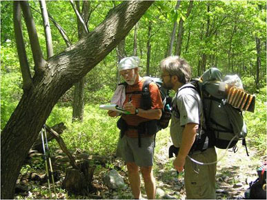 Volunteers identify and collect data on American chestnut trees along the Appalachian Trail